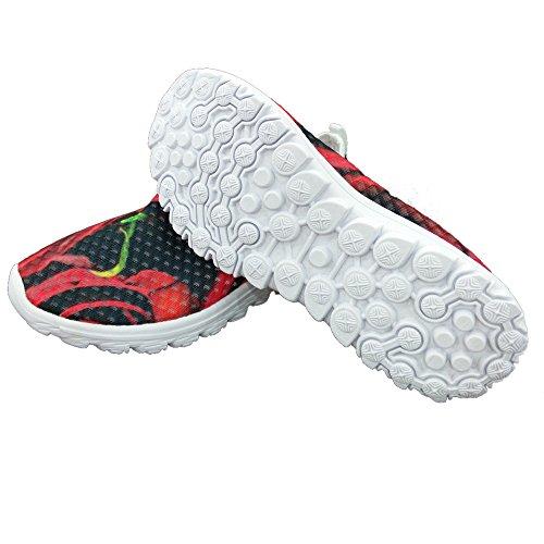 Per Te Disegni Scarpe Da Corsa Sneaker In Mesh Convenienti E Leggere Per Donne Rosse 1