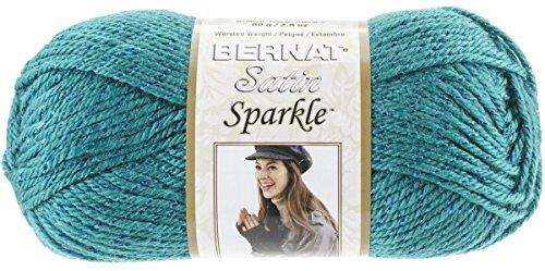 Bernat Satin Sparkle Yarn, 2.8 Ounce, Emerald, Single (Bernat Satin Knitting Yarn)