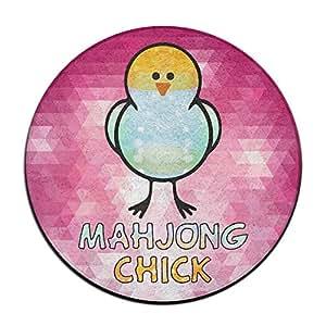 Mahjong Chick antideslizante alfombrillas Circular alfombra alfombrillas comedor dormitorio alfombra Felpudo 23.6pulgadas