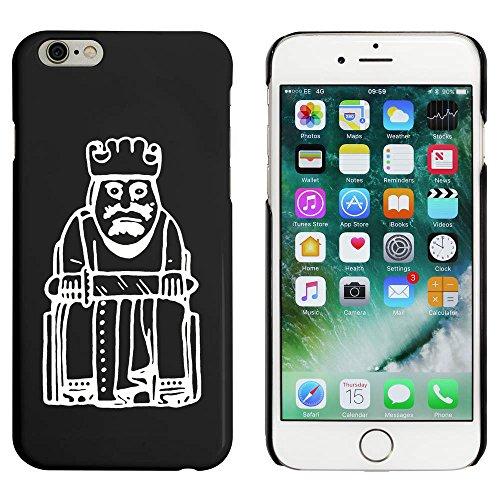 Noir 'Roi Pièce d'Échecs' étui / housse pour iPhone 6 & 6s (MC00086482)