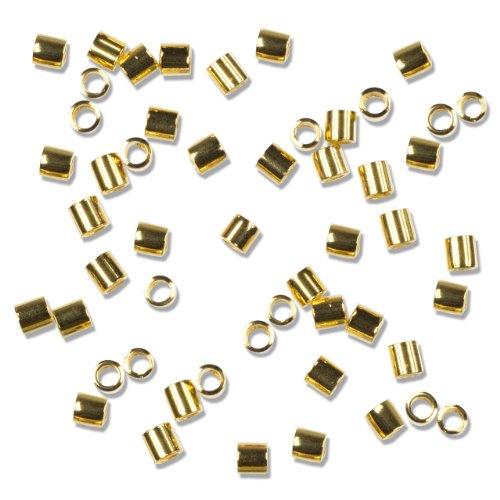 (Cousin Gold Elegance 14K Gold Plate Crimp Bead, 50-Piece)