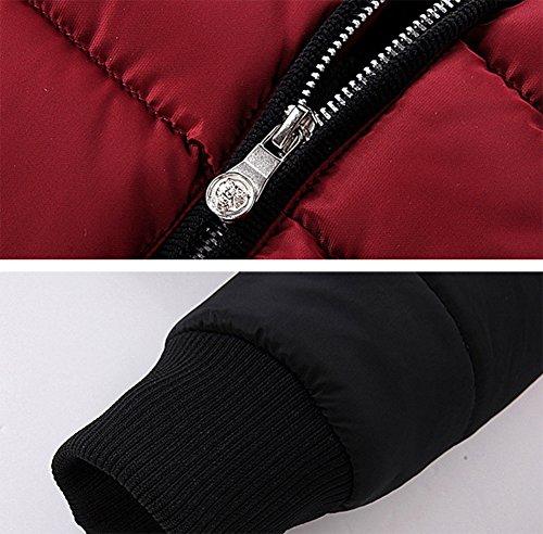 Acolchada Larga Manga Puffer Chaqueta Rojo Cálido de Invierno Abrigo Hombres 4wqFTvx