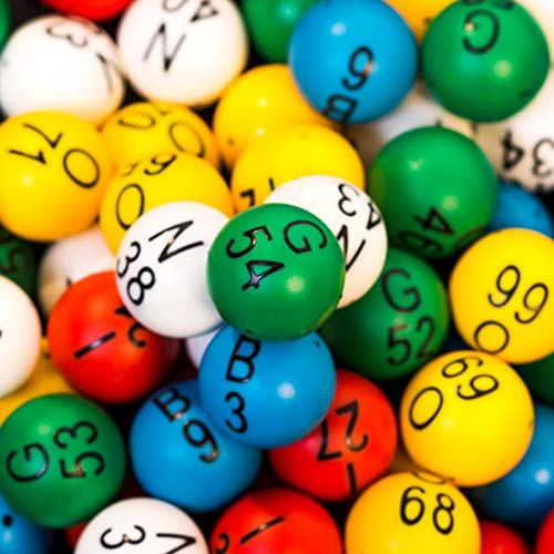 (MR CHIPS Professional Bingo Balls - Multicolored and Single Side Numbered - Each Set Includes 75 Balls - Red, Blue, Green, Yellow, White - Inc (for 12