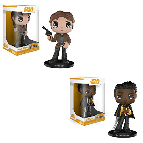 Funko Wobblers Bobble-Heads Star Wars Solo Movie: Han Solo Bobblehead and Lando Calrissian Bobblehead Toy Action Figure - 2 PIECE BUNDLE
