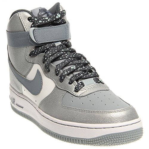 Nike Air Force 1 GS Basketball Shoes (4.5 M US Big Kid, LIGHT MAGNET GREY/MAGNET GREY-DARK MAGNET GREY) (Air Force 1 Low Light Blue Shoes compare prices)