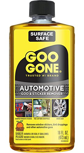 Goo Gone Automotive - Cleans Auto Interiors, Auto Bodies and Rims, Removes Bugs & Stickers - 16 Fl. Oz.