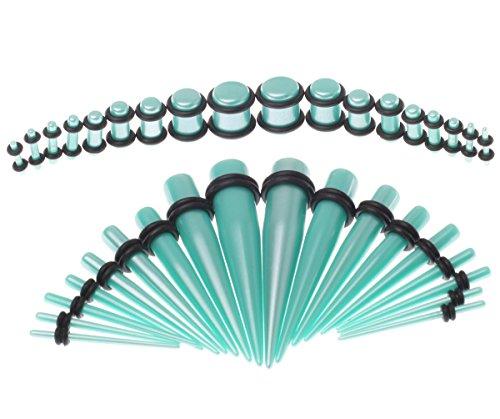 Bodyj4you 36PC Gauges Kit Ear Stretching 14G-00G Glitter Acrylic Taper Plug Body Piercing