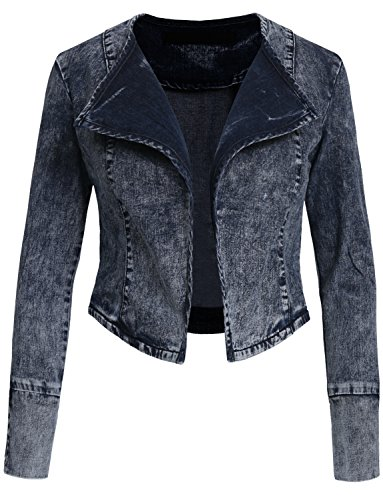 NE PEOPLE Various Styles High-Waisted Vintage Denim Jacket (Pleated Denim Jacket)