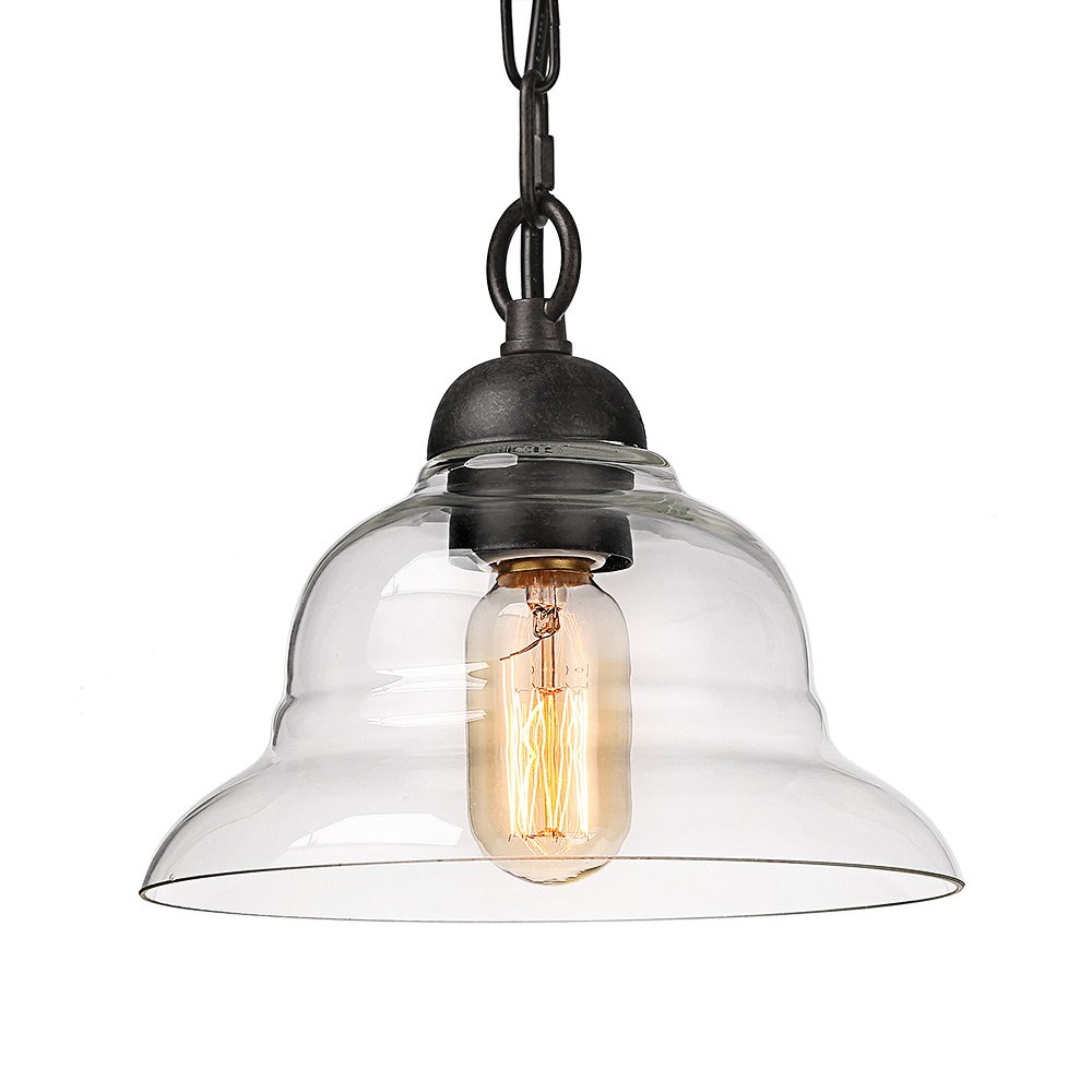 LALUZ 1-Light Chandelier Pendant Lighting Ceiling Lights Rust
