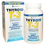 THYROID T-3 by ABSOLUTE NUTRITION 180 capsules. Supports Thryoid, Burns Fat, Increases Metabolism, Boosts Output, Stim-free, Guggul, Guggulsterones