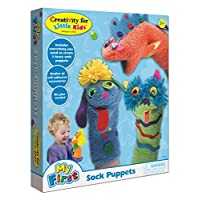 Creativity for Kids My First Sock Puppets - Títeres para niños - Mess Free y Travel Friendy