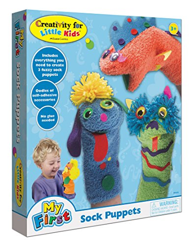 Creativity for Kids My First Sock Puppets - Hand Puppets for Kids - Mess Free and Travel -