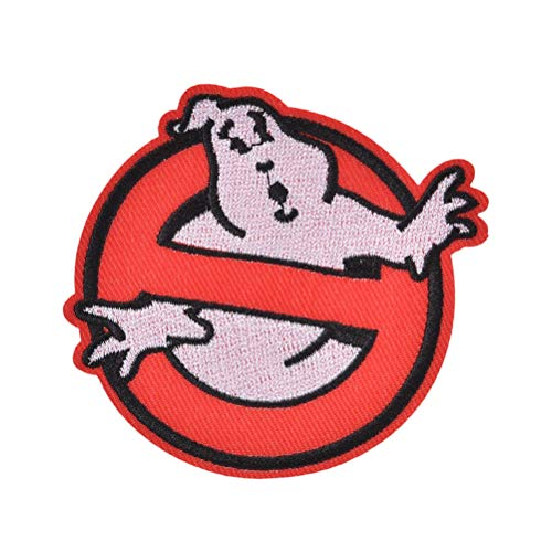 Iron On - Ghostbusters No Ghost Movie Comics Logo Patch Kid Baby Jacket T Shirt Iron On Embroidered Symbol - Fabric Fusing Transfers Beads Foil Stickers Baseball Star Embroidered Vinyl Motorcycle -