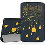"""MoKo LG G Pad F 8.0 / G Pad II 8.0 Case, Ultra Slim Lightweight Smart-shell Stand Cover [Fit 4G LTE AT&T Model V495 / T-Mobile V496 / US Cellular UK495 & G Pad 2 8.0 V498] 8"""" Tablet, City Night View"""
