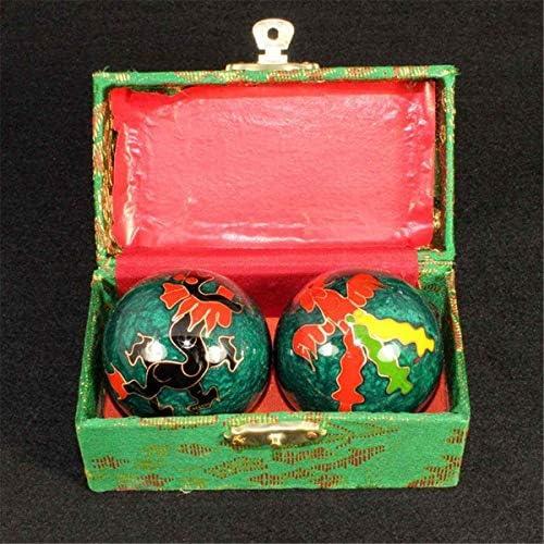 Fssh-MLX 中国の衛生ブルー保定ボール毎日の運動ストレスリリーフハンドボールセラピーマッサージボールハンドの強フィットネスボール47ミリメートル (色 : Army Green)