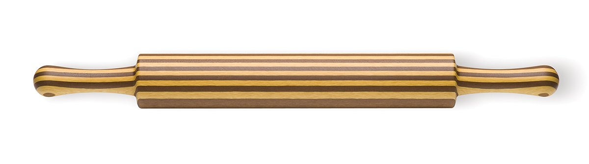 Epicurean Rolling Pin with Handles, 20-Inch by 2-Inch Diameter, Natural/Nutmeg