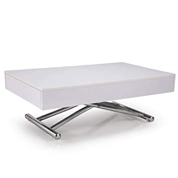 BrillanteExtensible Inside Cube Relevable 12 Blanche Basse Table 1TJK3lFc