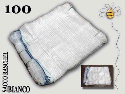 SACCHI RASCHEL A RETE BIANCO di qualità cm. 40 x 60, stock 100 pezzi multiuso Agraria Ughetto Apicoltura
