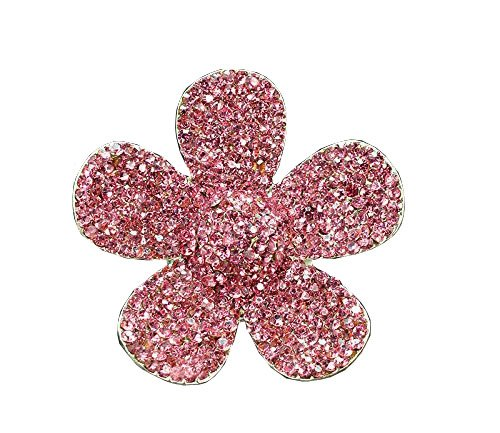 Bestbling Crystal Bling Sparking Car Fragrance Flower Car Diffusser Air Freshener with Vent Clip (Pink)