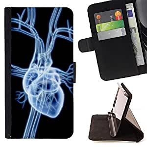 DEVIL CASE - FOR HTC Desire 820 - Heart Anatomy Art Human Love Drawing Veins - Style PU Leather Case Wallet Flip Stand Flap Closure Cover