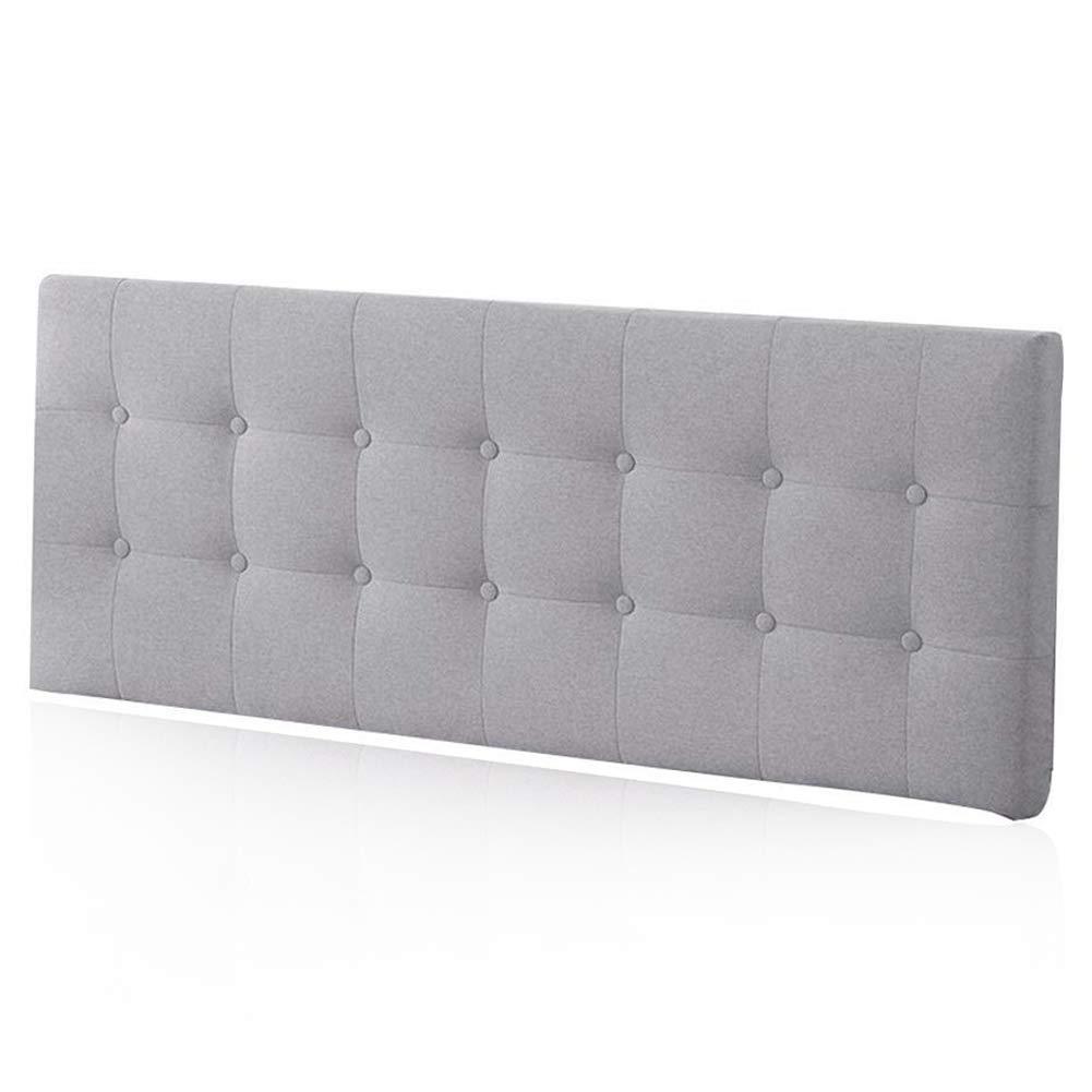 LIANGLIANG クションベッドの背もたれ特大ダブルピープルジッパーデザイン取り外し可能なベッドサイドソフトケースクロス、5色、7サイズ (色 : Gray, サイズ さいず : 200X60X8cm) 200X60X8cm Gray B07MR1G472