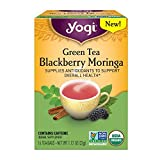 Yogi Tea - Organic Green Tea Blackberry Moringa - 16 Tea Bags