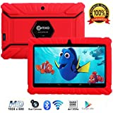 "Contixo Kids Tablet K2 | 7"" Display Android 6.0 Bluetooth WiFi Camera Parental Control for Children Infant Toddlers w/ Free Tablet Case (Red)"