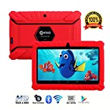 Contixo Kids Tablet K2 | 7'' Display Android 6.0 Bluetooth WiFi Camera Parental Control for Children Infant Toddlers w/ Free Tablet Case (Red)