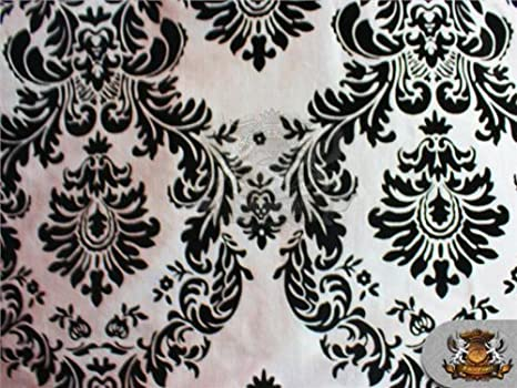 "Taffeta Damask Velvet Flocking Fabric 58/"" Wide Sold By The Yard"