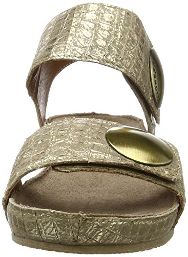 cashott A10152 - Sandalias Mujer Gold (Cocco Gold 190)