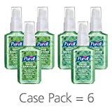 PURELL Advanced Hand Sanitizer Soothing Gel Metallic Design Series, Fresh scent, with Aloe and Vitamin E - 2 fl oz pump bottle (Pack of 6) - 9682-04-ECDECO