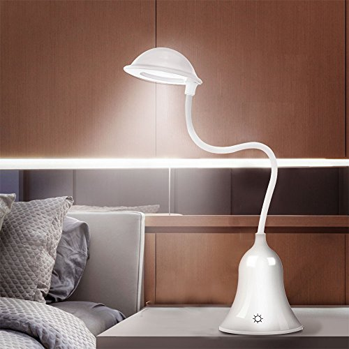 Anpress Cute Mushroom LED Desk Lamp Table Lamps, Touch Sensor Control Bedroom  Lamps, 3 Levels Of Dimmable Brightness Book Light, USB Rechargeable Baby ...