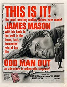 Odd Man Out Movie Poster (11 x 17 Inches - 28cm x 44cm) (1947) Style A -(James Mason)(Robert Newton)(Dan O'Herlihy)(Kathleen Ryan)(Cyril Cusack)
