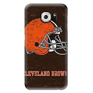 S6 Case, NFL - Cleveland Browns Distressed - Samsung Galaxy S6 Case - High Quality PC Case