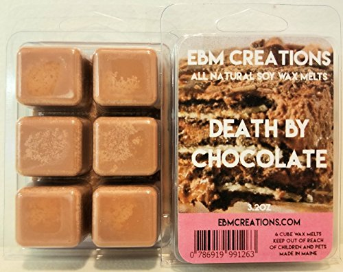 Death By Chocolate - Scented All Natural Soy Wax Melts - 6 Cube Clamshell 3.2oz Highly Scented!