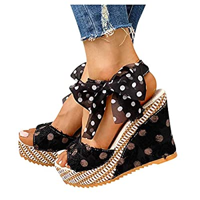 Gibobby Womens Espadrilles Sandals Flats,Women's Platform Sandals Espadrille Wedge Summer Ankle Strap Studded Open Toe Sandal: Clothing