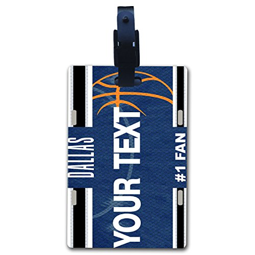 BleuReign(TM) Personalized Custom Name Basketball Dallas License Luggage Tag with - Dallas Mavericks Jersey Custom