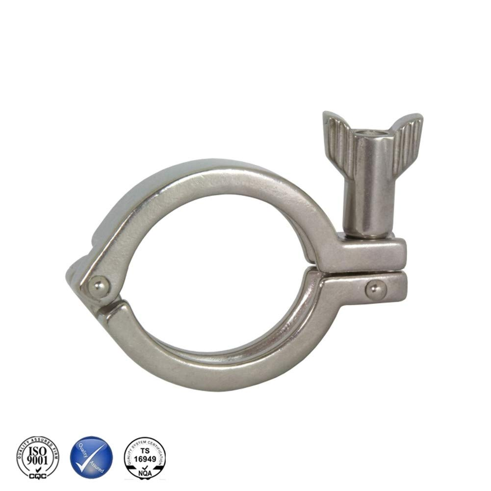 Stainless Steel 304 Single Pin Heavy Duty Tri Clamp with Wing Nut for Ferrule TC 2-Food Grade