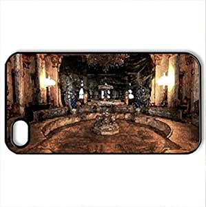 lintao diy beylerbeyi palace istanbul,turkey - Case Cover for iPhone 4 and 4s (Watercolor style, Black)