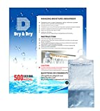 Dry & Dry [72 Pack] [Net 9 Oz/Pack] Premium Hanging Moisture Absorber to Control Excess Moisture, Mold, and Mildew for Basements, Bathrooms, Laundry Rooms, Closet. No More Damp, Mold, and Mildew.