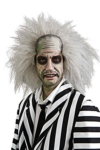 [UHC Adult Beetlejuice Wig 80S Movie Ghost Theme Halloween Costume Accessory] (80s Movies Costumes)