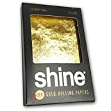 Shine 24K Gold Rolling Papers 1.25 Size - 12 Sheet Party Pack by Shine offers