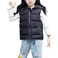 Chaquetas de Plumón Infantil Niños Niñas Chaleco Acolchado con Capucha Chaqueta Vest