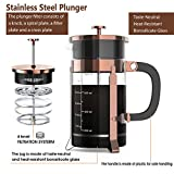 French Press Coffee Maker with 4 Filters, Durable