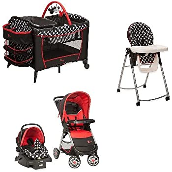 Newborn Travel System Combo Set Baby Stroller with Car Seat /& Deluxe Play Yard