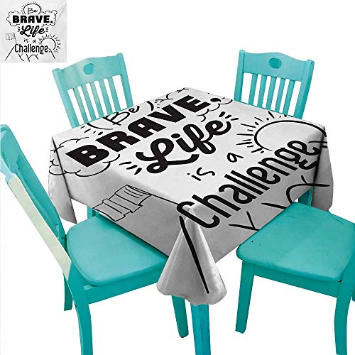 Quotes Elegance Engineered Christmas Tablecloth Be Brave Life