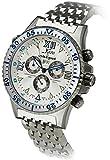 Xezo Air Commando Reloj de pulsera para hombre, cuarzo suizo, cronógrafo deportivo, segunda zona horaria Día, fecha. 20 barras impermeables