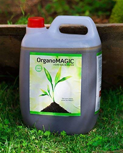 OrganoMagic Liquid Soil Booster Organic Liquid Fertilizer for all plants 5  Ltr