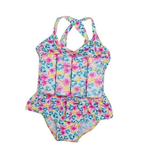 Flotation Swimwear (New Swimwear,Coper Summer Little Girl Pool Flotation Swimsuit Bikini Set (Blue))