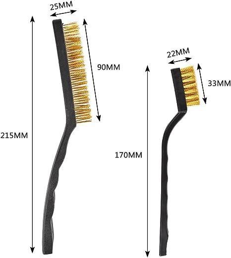 Neues 12pc Detail Drahtbürstenset Stahl Messing Nylon Reinigung Polierdetail